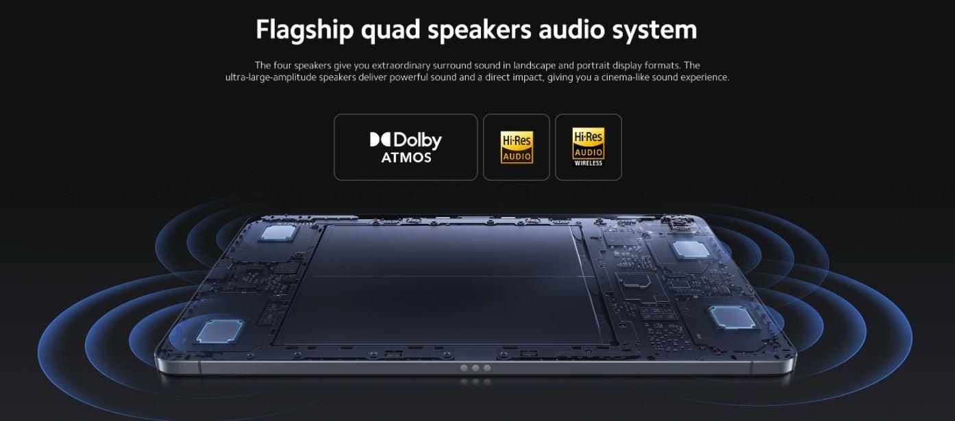 XIAOMI Pad 5 - głośniki Dolby Atmos