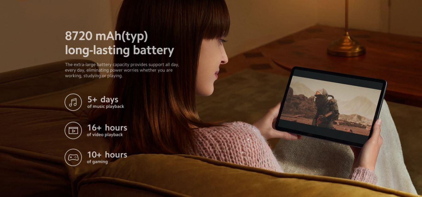 XIAOMI Pad 5 - pojemna bateria