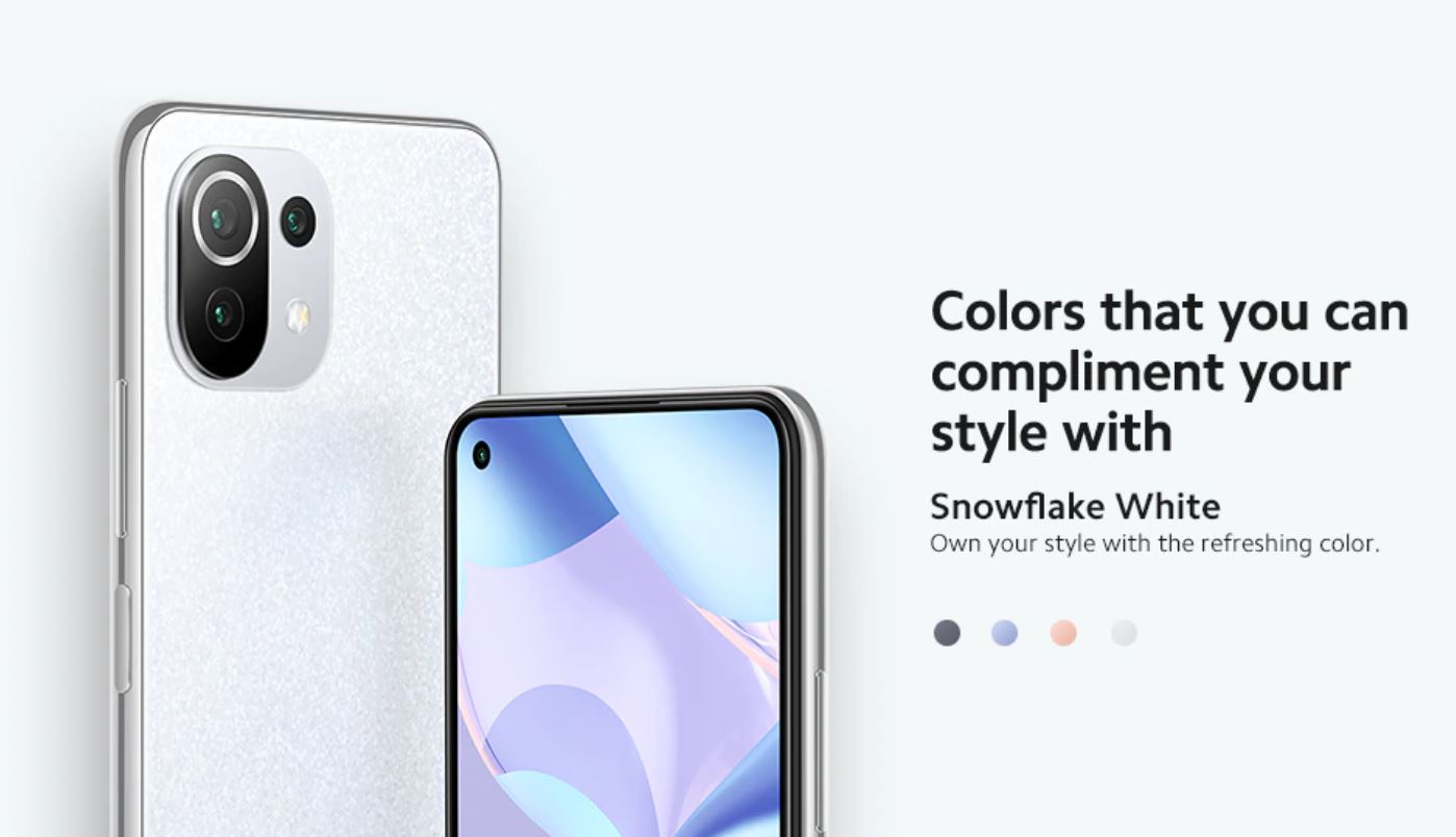 Xiaomi 11 Lite 5G NE - kolory