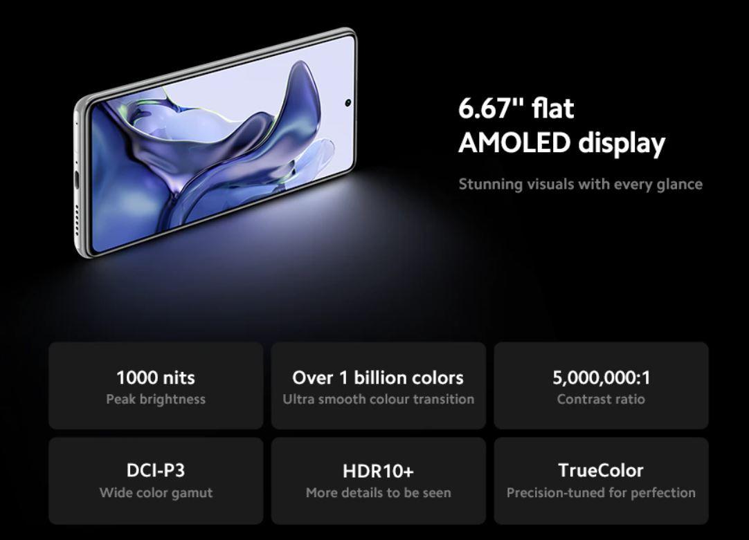 Xiaomi 11T - ekran AMOLED