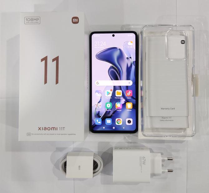Xiaomi 11T - zestaw - unboxing