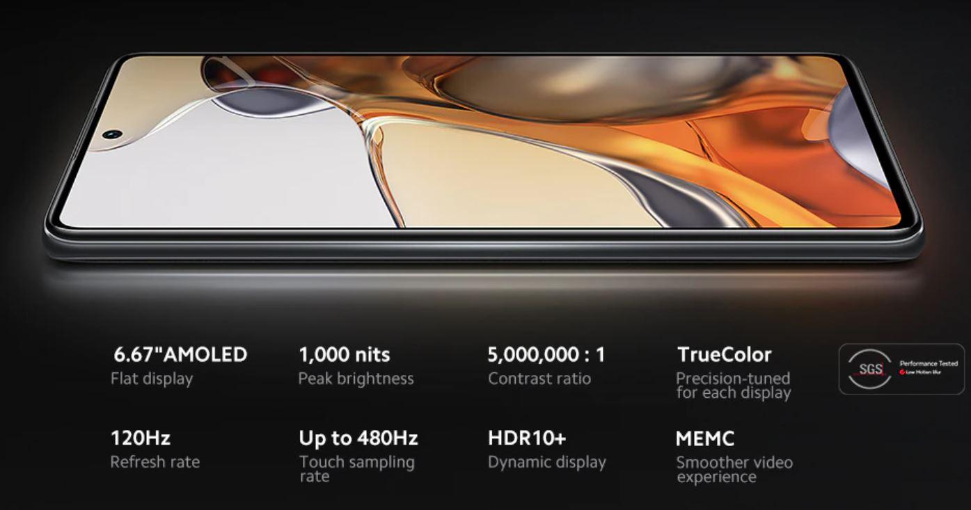 Xiaomi Mi 11t Pro - ekran AMOLED