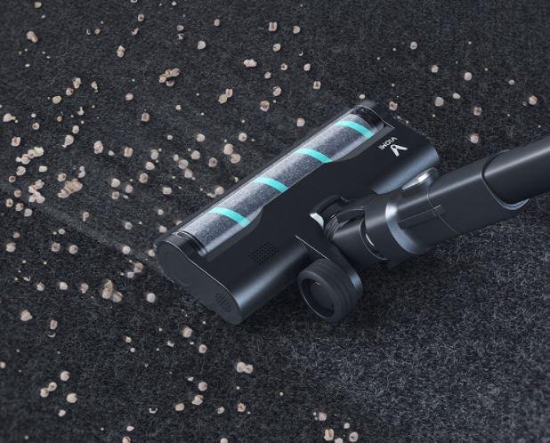 bezprzewodowy odkurzacz pionowy Viomi A9 - odkurzanie podłogi