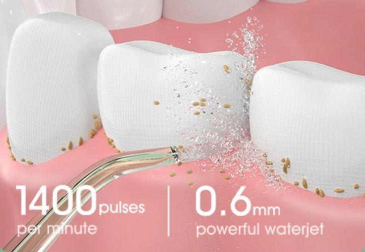 irygator Oclean W10 - wymywanie drobinek z zębów