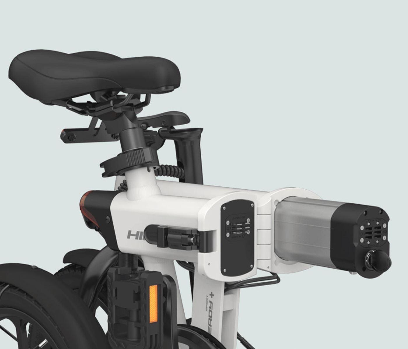 rower elektryczny HIMO Z16 - bateria chowana w siedzeniu