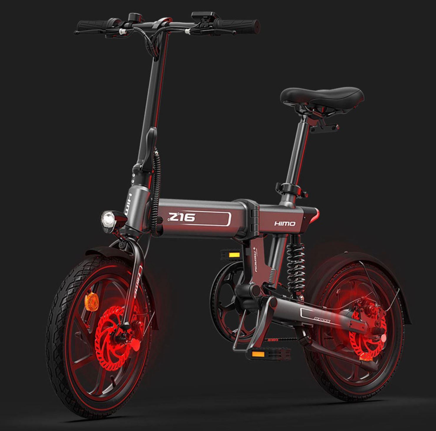rower elektryczny HIMO Z16 - hamulce