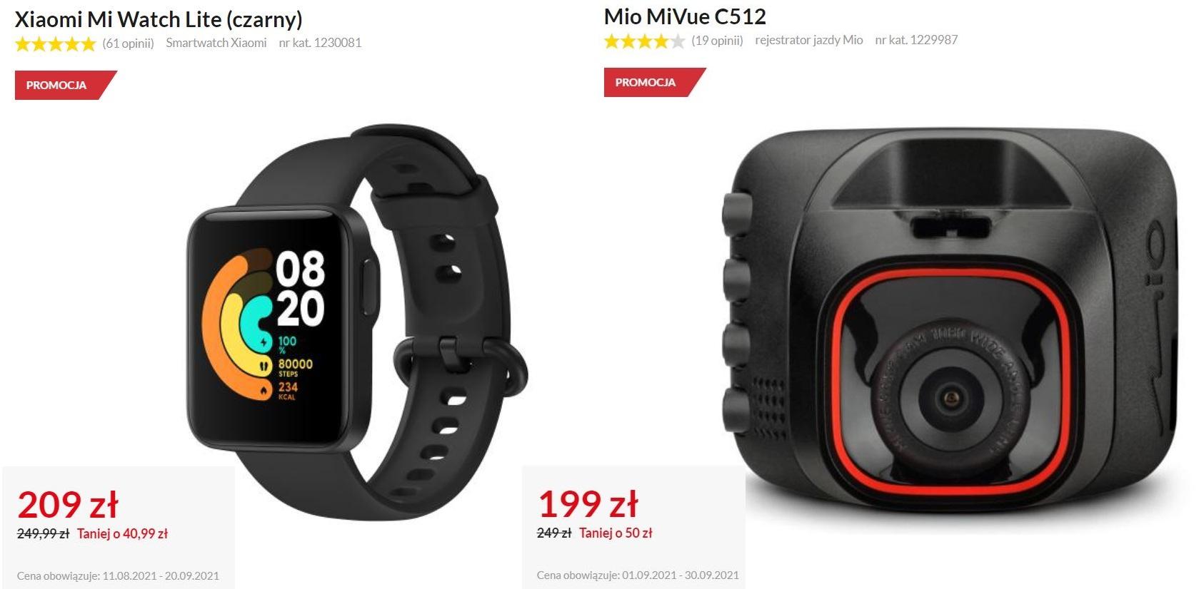 wielorabaty w RTV Euro AGD - Xiaomi Mi Watch Lite i wideorejestrator Mio MiVue