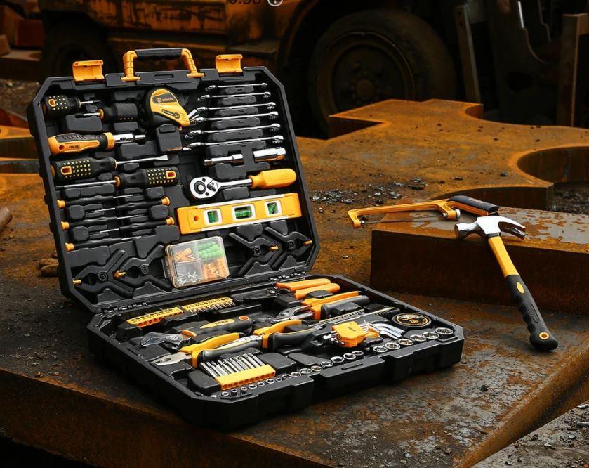wyprzedaż narzędzi DEKO z AliExpress - zestaw narzędzi DEKO - skrzynka narzędziowa