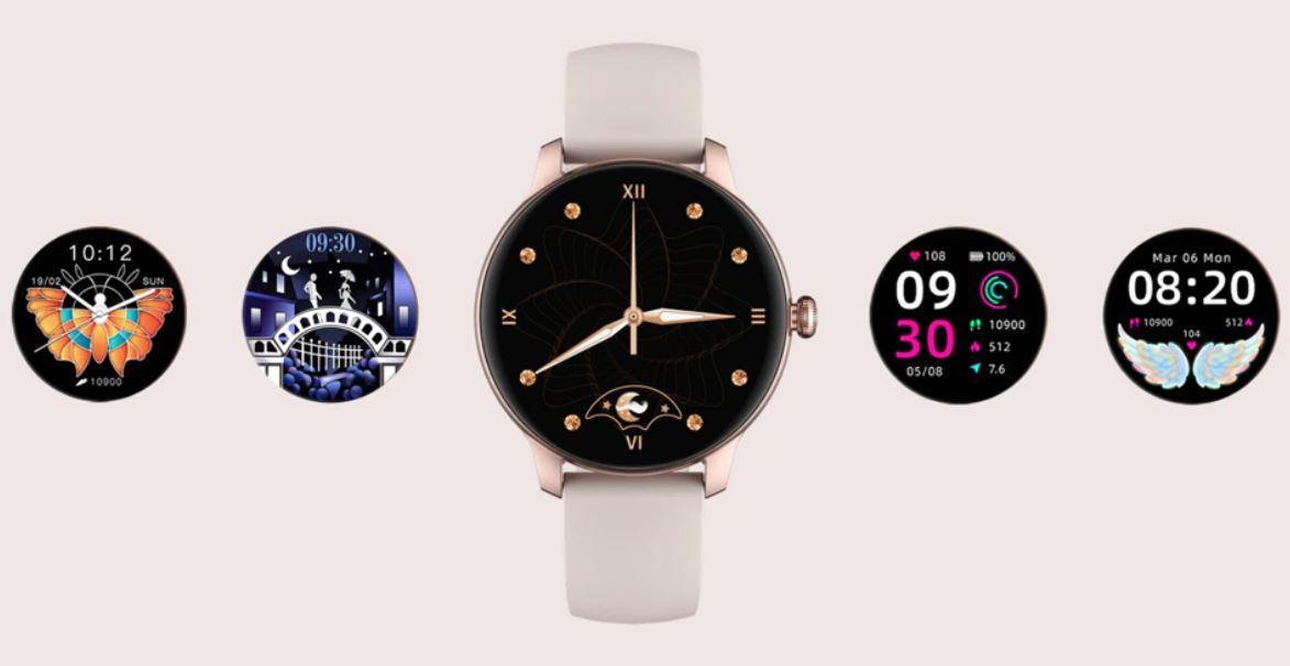 damski smartwatch IMILAB W11 - kolory tarczy