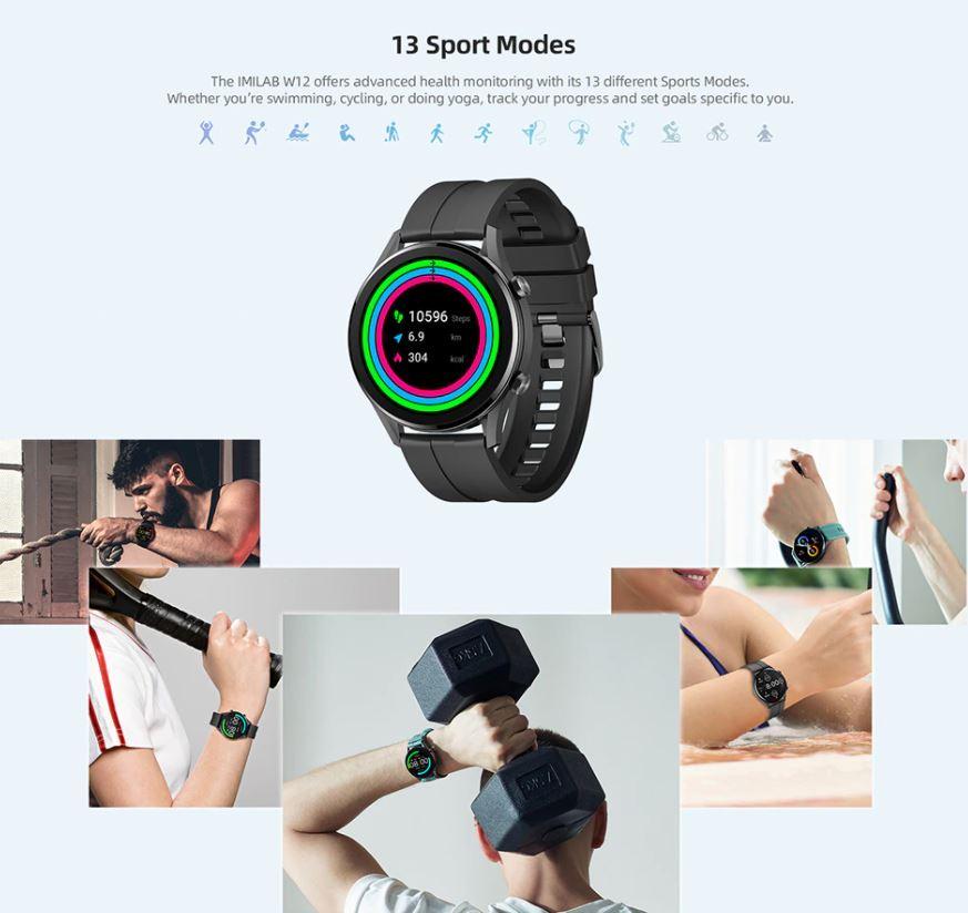 męski smartwatch IMILAB W12 - sporty
