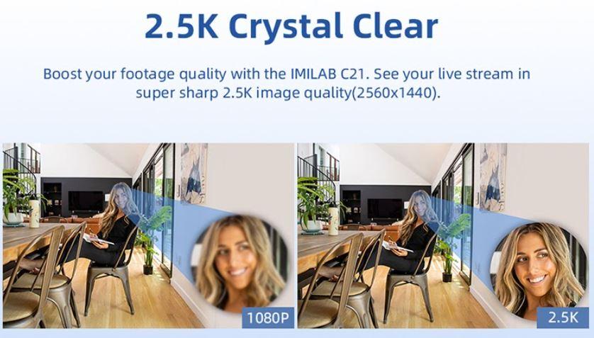 promocja kamery IP IMILAB C21 - jakość obrazu 2,5K