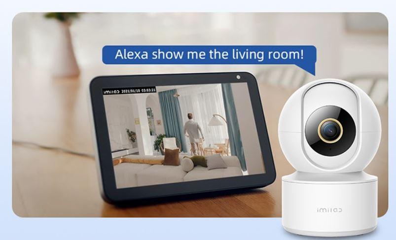 promocja kamery IP IMILAB C21 - łączność z asystentami głosowymi